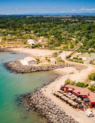 Vue sur le camping Californie Plage avec accès direct à la mer