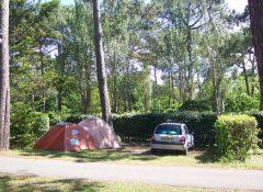 Un emplacement pour tente dans le camping Club Marina Landes