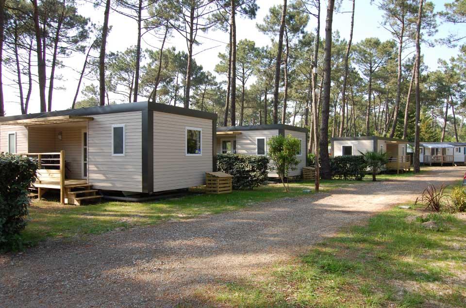 Les mobil homes de luxe dans le camping Cub Marina Landes