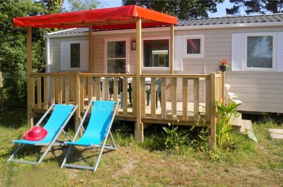 Un mobil home tout confort dans le camping L'Etang du pays blanc à Guérande