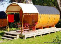 Un hébergement insolite roulotte dans le camping L'Etang du pays blanc à Guérande