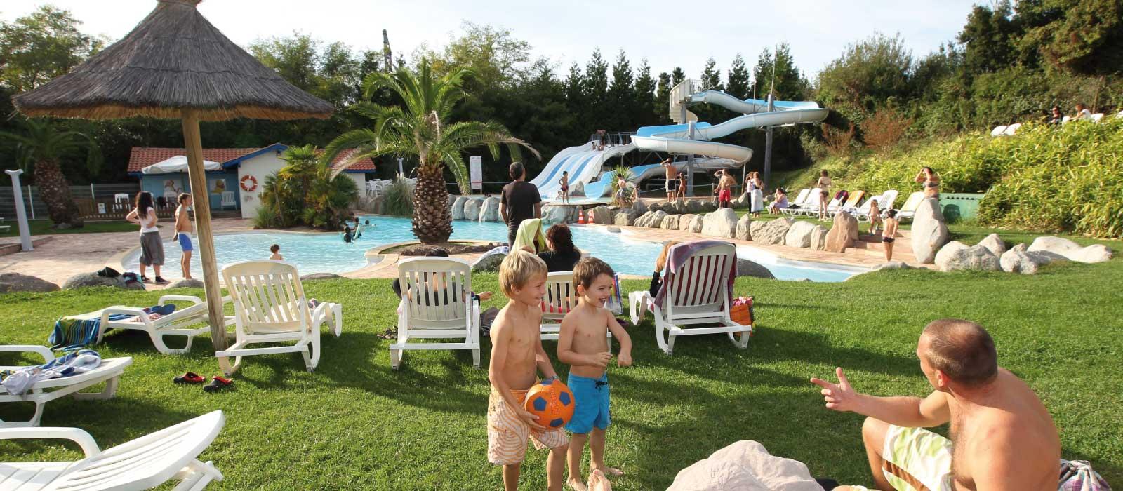 Le parc aquatique du camping Itsas Mendi à Saint Jean de Luz