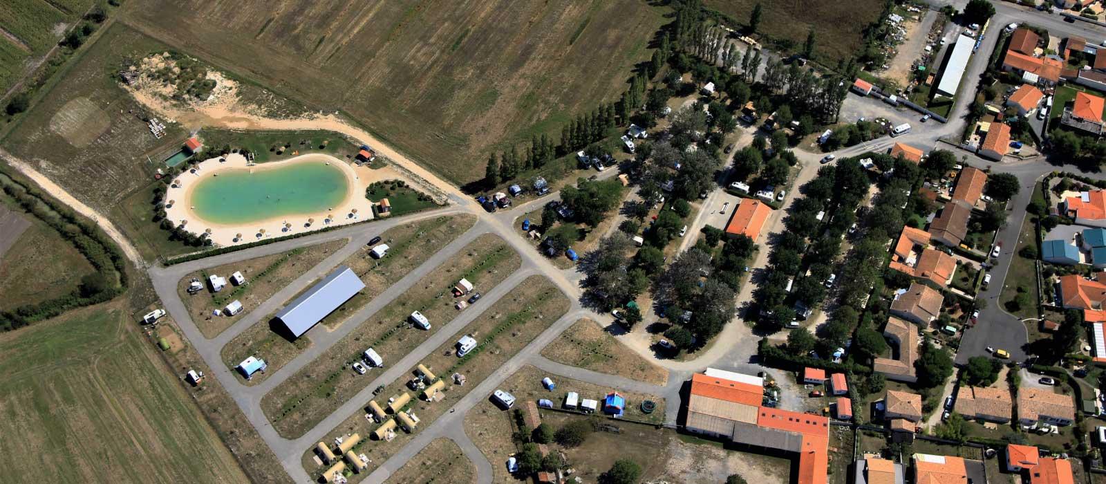 La vue aérienne du camping L'Océan à Chatelaillon