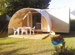 Un hébergement insolite (tente toilée) dans le camping Le Po Doré à Allonnes