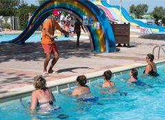 Les animations dans la piscine du camping Les roquilles à Palavas les Flots