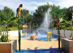 Les jeux aquatique pour enfants dans le camping Sen Yan à Mézos