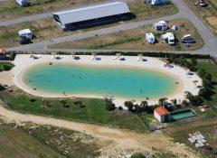 Le lagon naturel pour se baigner dans le camping l'Océan à Chatelaillon