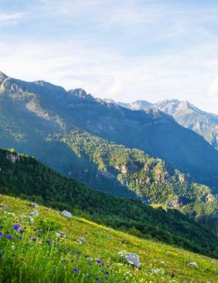 Vacances en camping en montagne