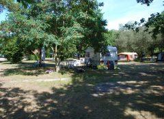 Emplacements pour tentes dans un camping à vensac